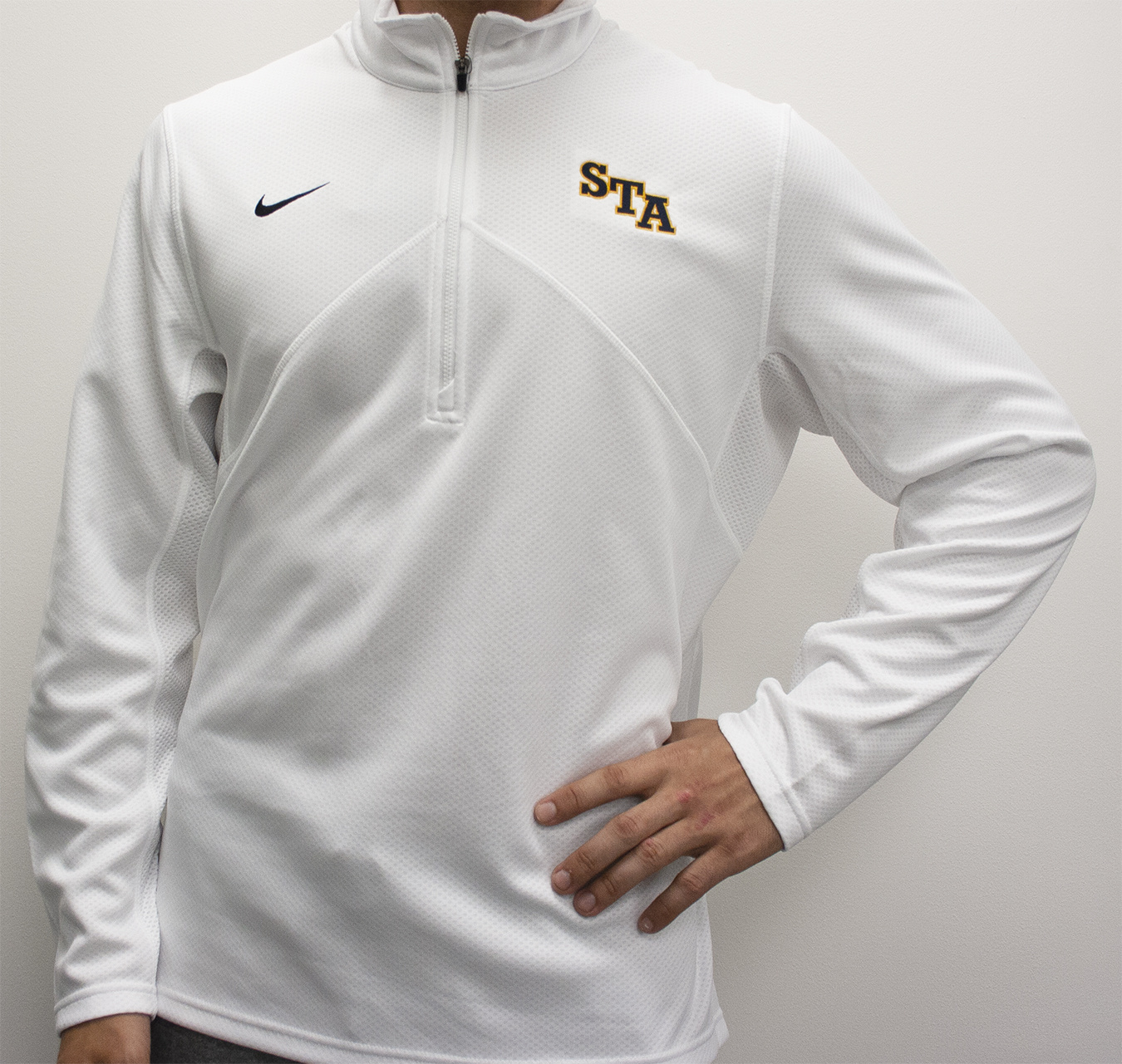 Nike Men's White Nike 1/4 Zip Jacket