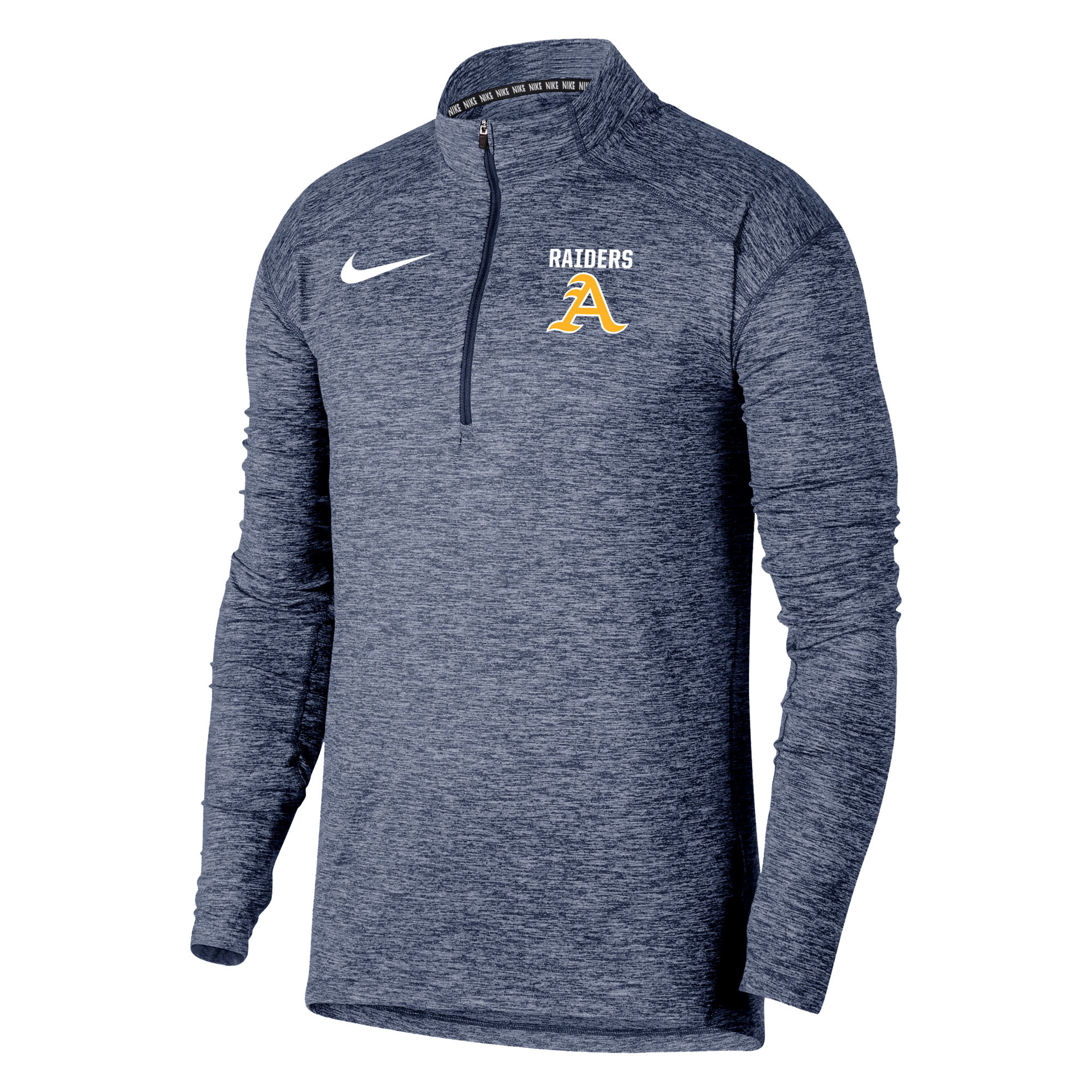 Nike Men's College Navy-Heather Element 1/4 Zip(M53795)
