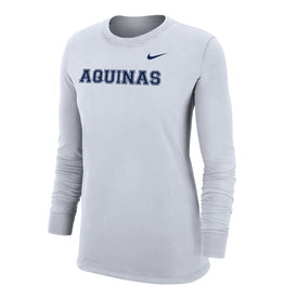 Nike Dry-Fit Cotton LS Tee White 2021-22