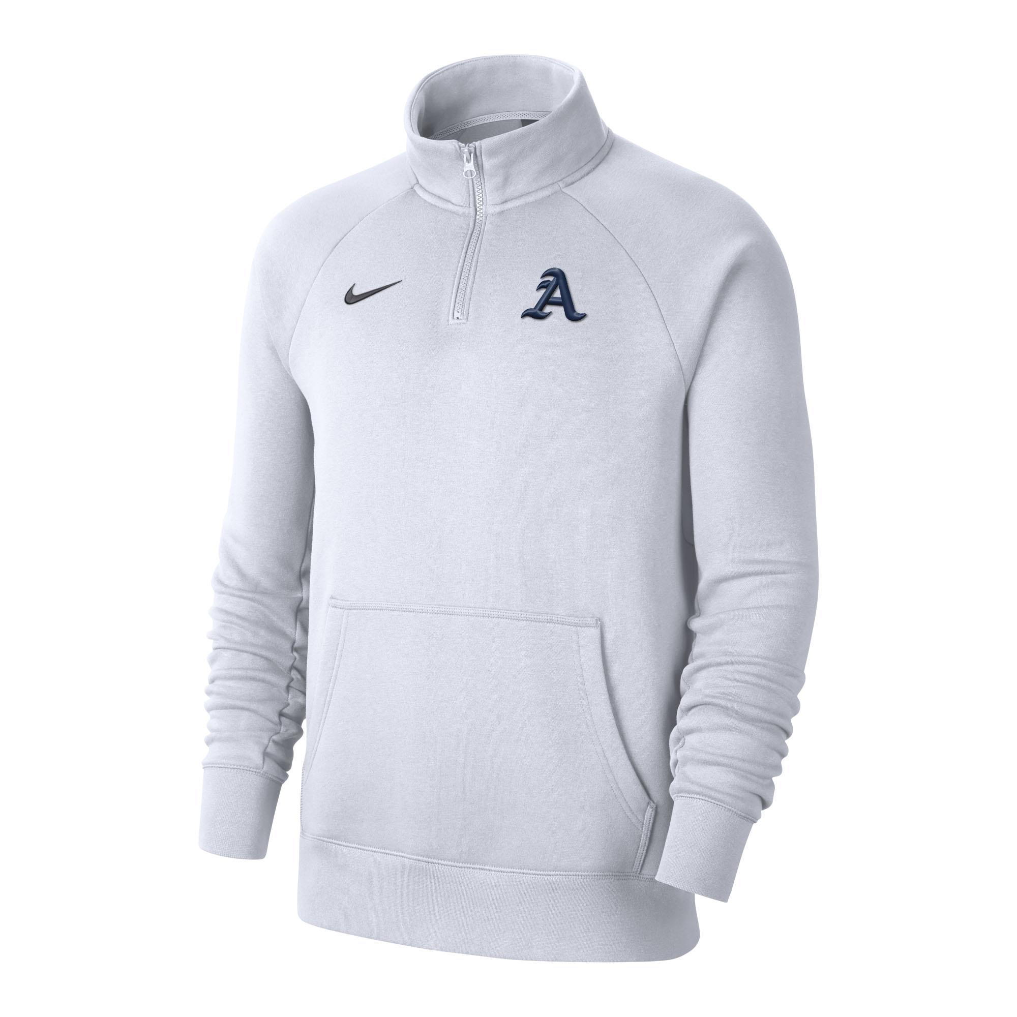Nike 2021-22 Club Fleece 1/4 zip White