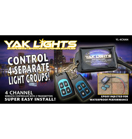 Yak Lights 4 Channel Wireless Transmitter w/ 2 Fobs