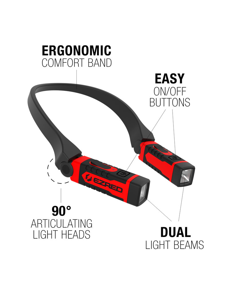 EZRed ANYWEAR Rechargeable Neck Light