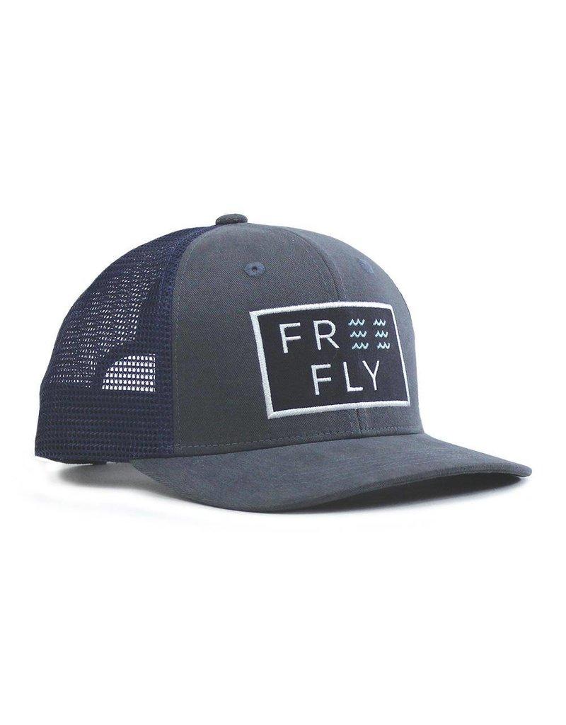 Free Fly Wave Snapback- navy
