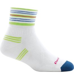 Darn Tough Socks Coolmax W's Vertex 1/4 Ultra-Light Cushion White Medium