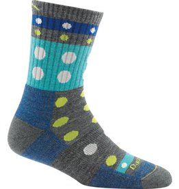 Darn Tough Socks Hike / Trek Blazes Micro Crew Cushion Gray Medium
