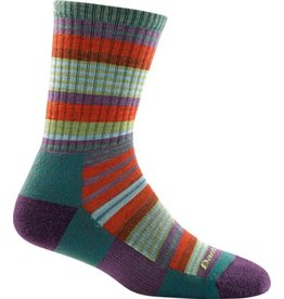 Darn Tough Socks Hike/Trek Sierra Stripe Micro Crew Light Cushion Teal Medium