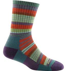 Darn Tough Socks Hike/Trek Sierra Stripe Jr. Micro Crew Light Cushion Teal Large