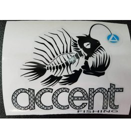 Accent Angler Fish Sticker