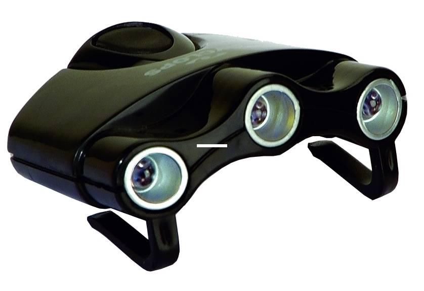 Cyclops Light w/3 Clear LED Lights Cyclops CYC-HCI-W Orion Hat Clip