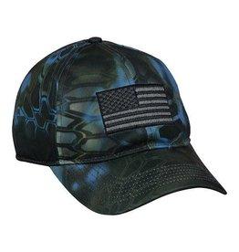 Kryptek Neptune Camo American Flag Hat
