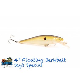 "KJ's Custom Lures 4"" Floating Jerk Bait"