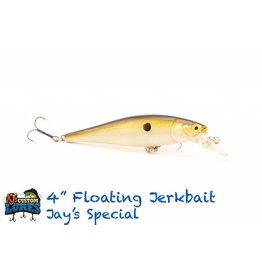 """KJ's Custom Lures 4"""" Floating Jerk Bait"""