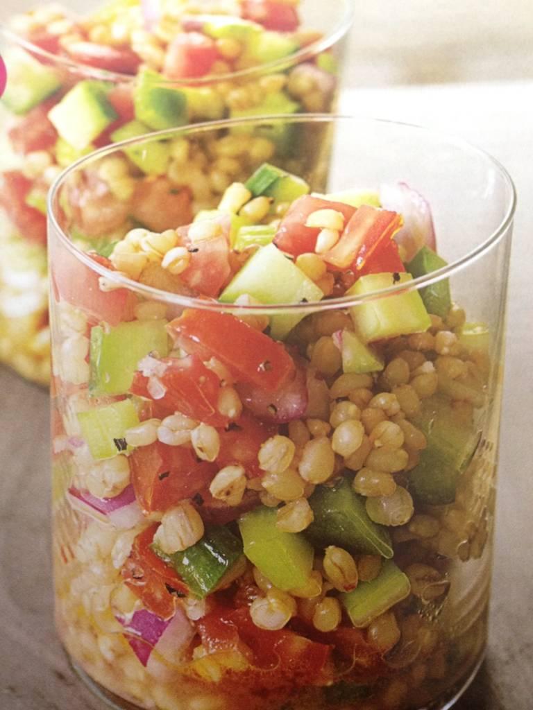 Veggie Wheat-Berry Salad