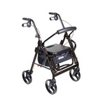 Drive Medical Duet Transport / Rollator BLACK