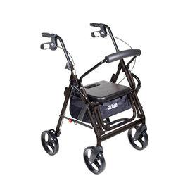 Drive Medical Duet Transport / Rollator BLACK