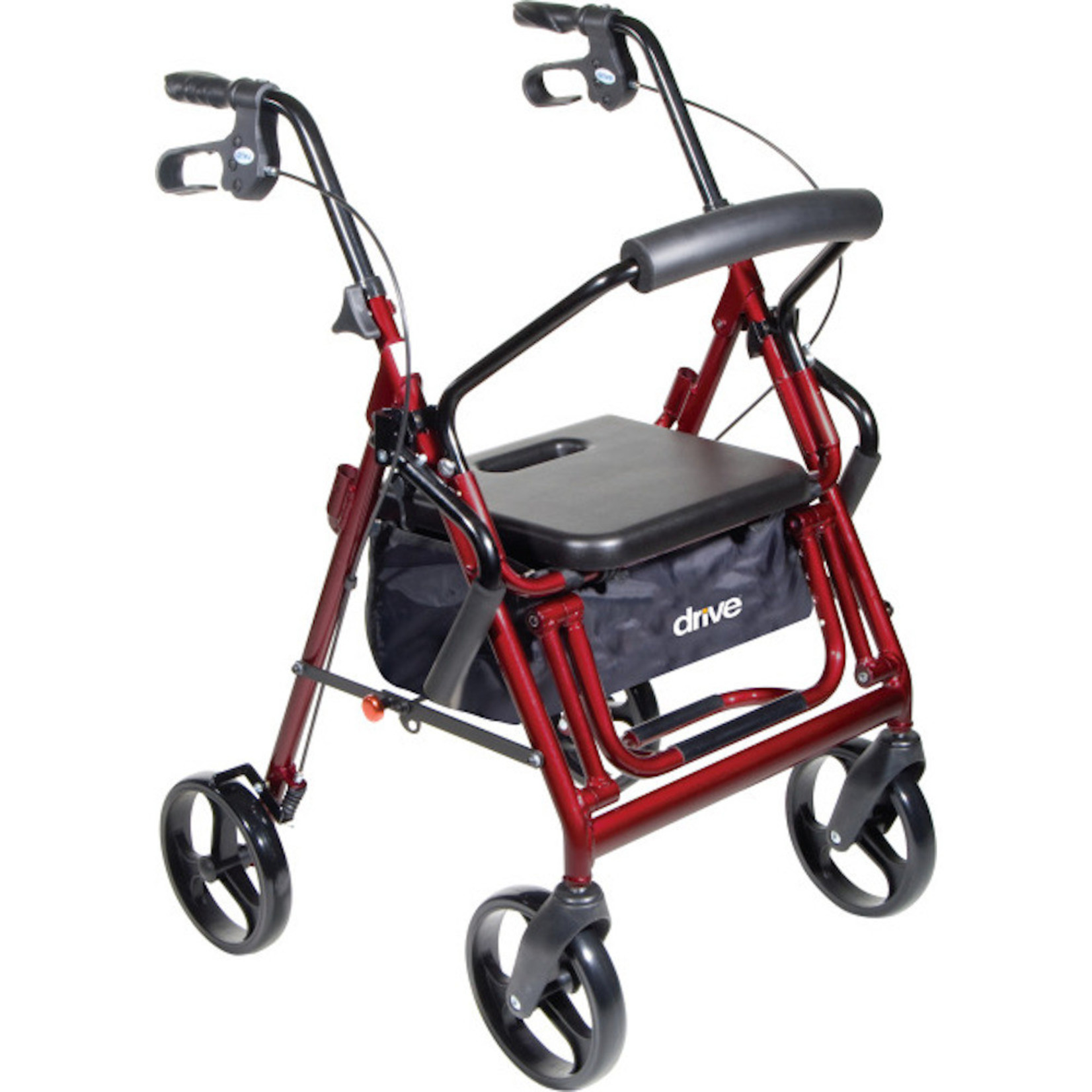 Drive Medical Duet Transport / Rollator RED
