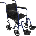 Probasics Aluminum Transport Wheelchair - Blue