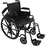 "Probasics K1 Wheelchair 20""x16"" Seat w/ Flip-Back Arms & Swing-away Footrests"