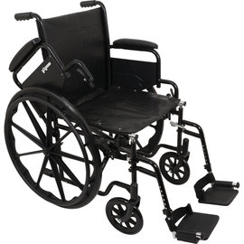 "Probasics K1 Wheelchair 18""x16"" Seat w/ Flip-Back Arms & Swing-away Footrests"