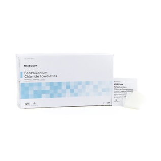 McKesson Antiseptic Towelettes 100/bx