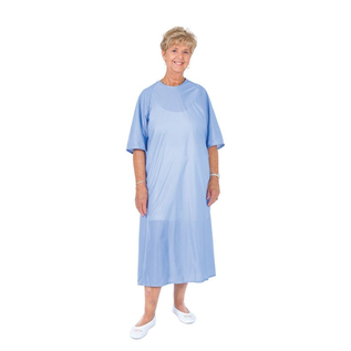 Essential Medical Patient Gown-flannel short slv