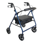 "Probasics 4 Wheel Walker 8"" Bariatric - Blue"