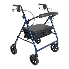 "Probasics 4 Wheel Walker 8"" Bariatric - Blue"