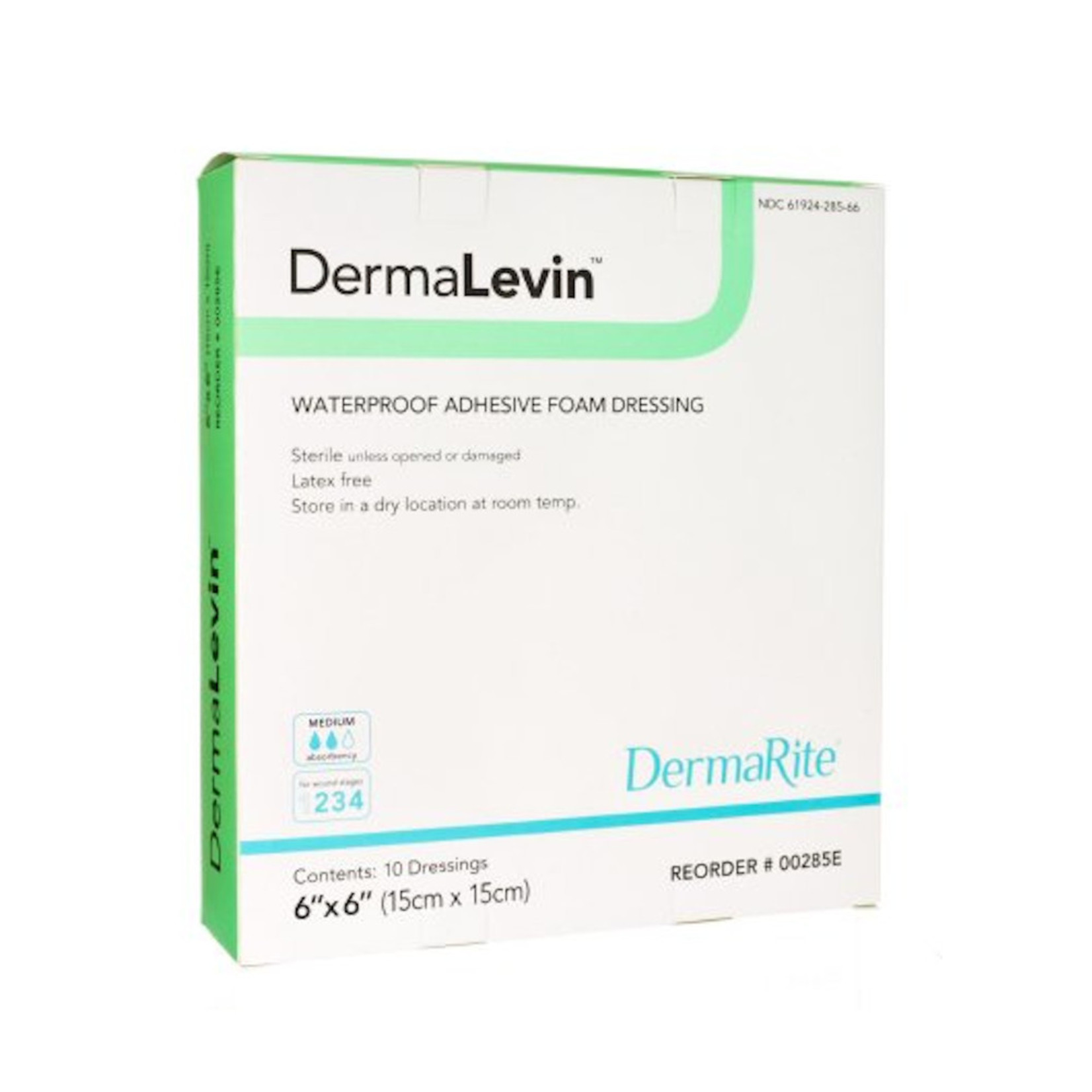DermaLevin foam Adh 4x4