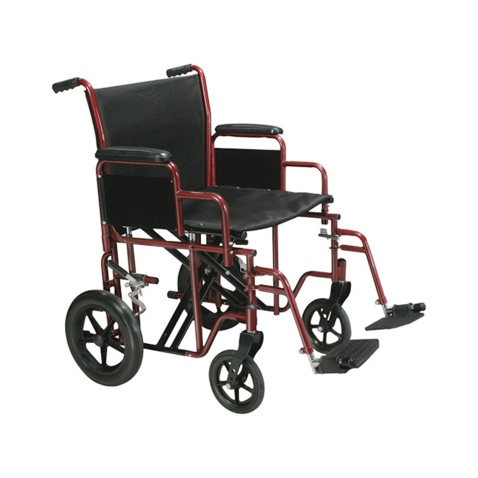 "Drive Medical HD 22"" Steel Transport Chair"