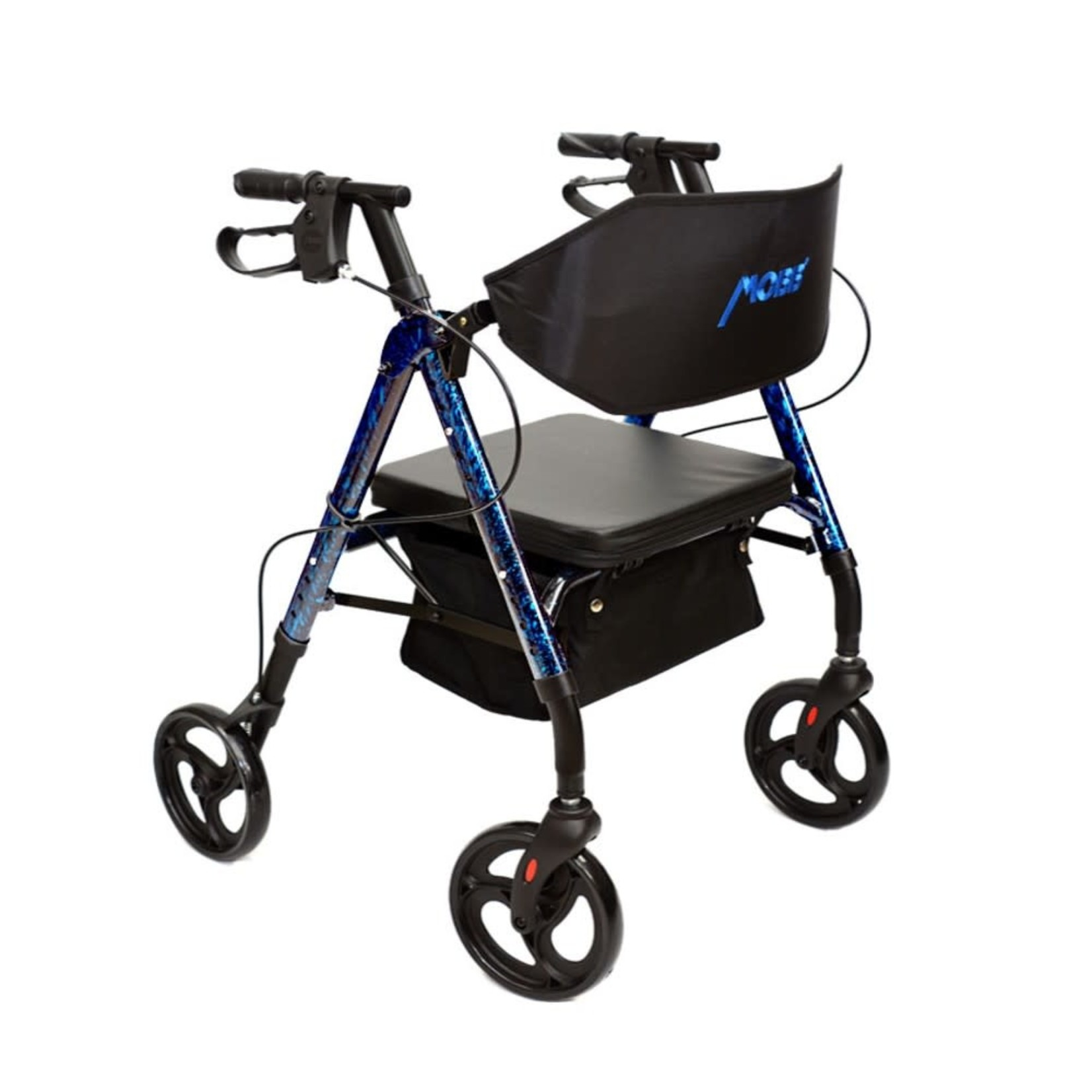 "4 Wheel Walker 6"" Blue Universal"