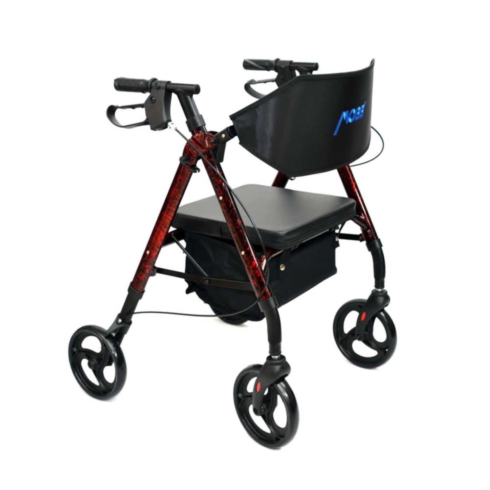 "4 Wheel Walker 6"" Red Universal"