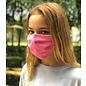 Adult Face Mask Reversible Pink Polka Dot Floral
