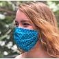 Adult Face Mask Blue Print