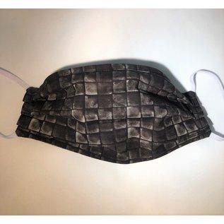 Adult Face Mask XL Reversible Black Square/Nature