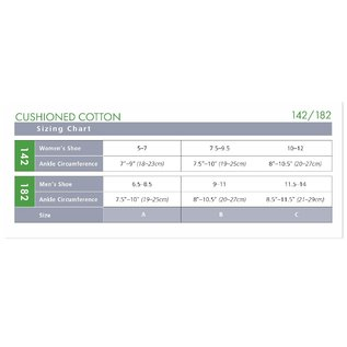 SIGVARIS Women's Cushioned Cotton Calf 15-20mmHg