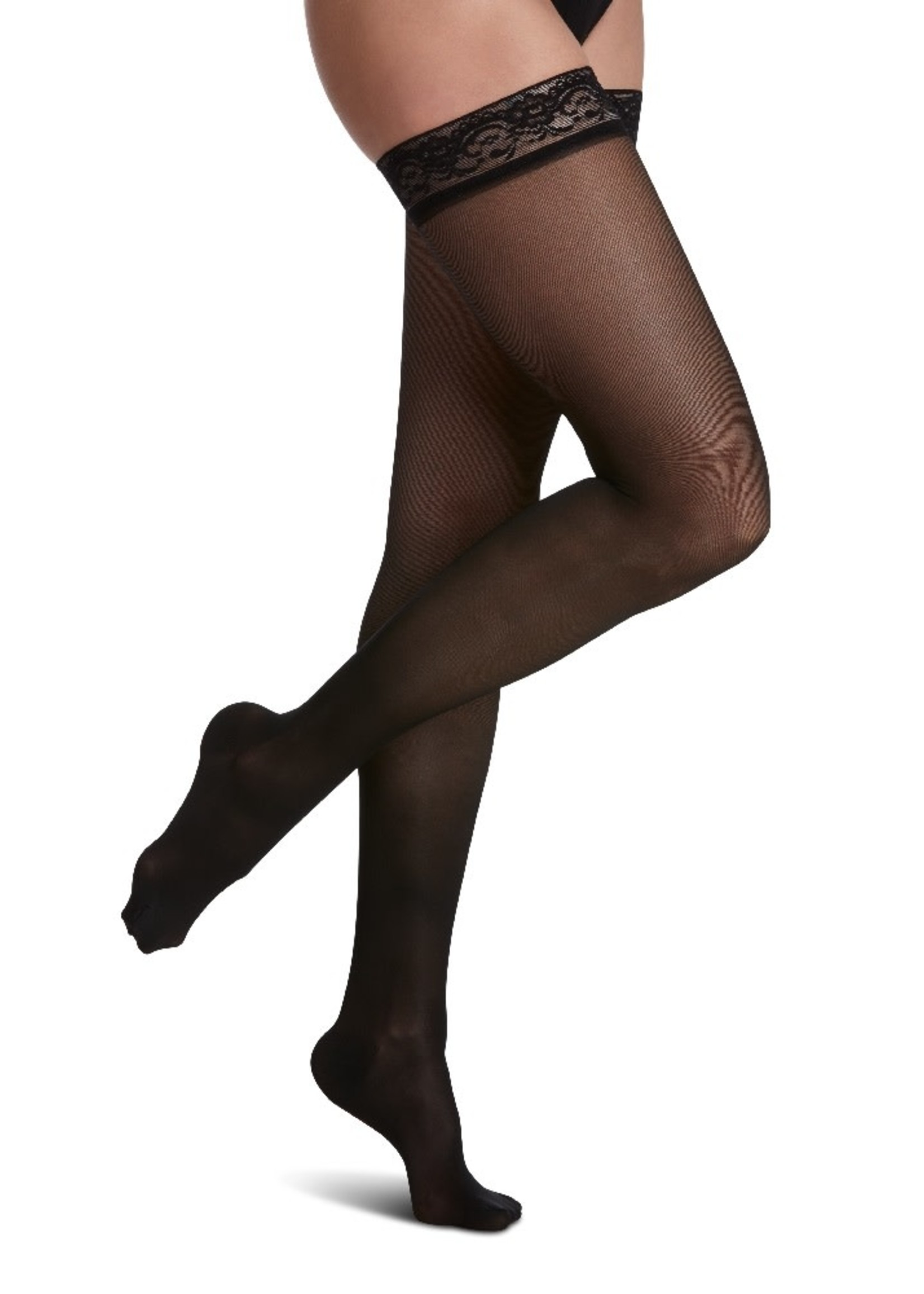 SIGVARIS Women's Sheer Fashion Thigh-High 15-20mmHg