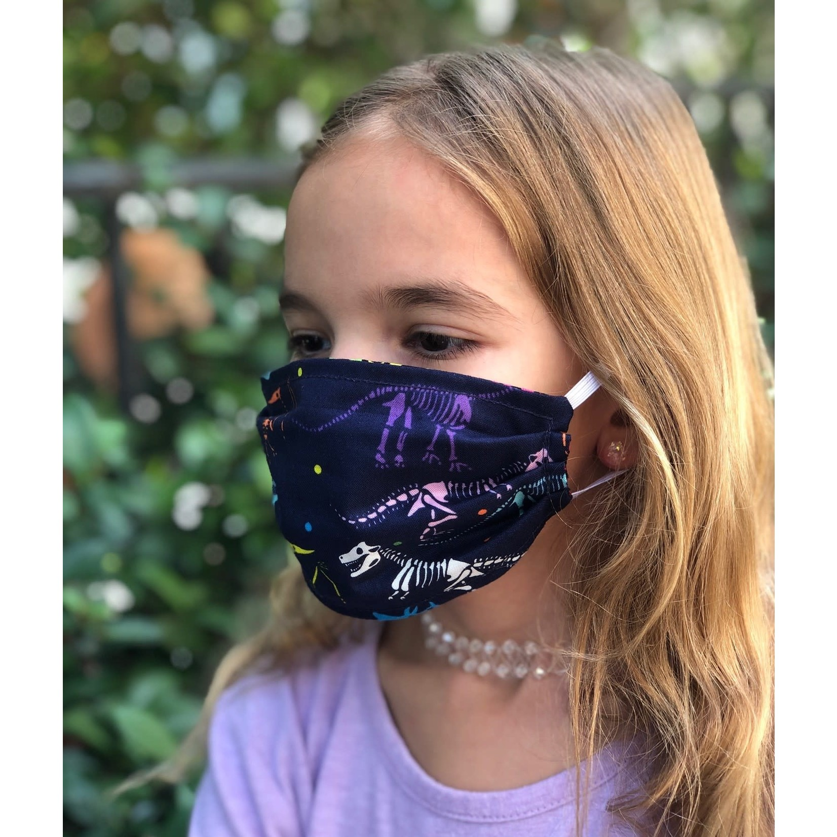 Face Cover - Reversible Kids Reversible Mask Dino/Star - Kids