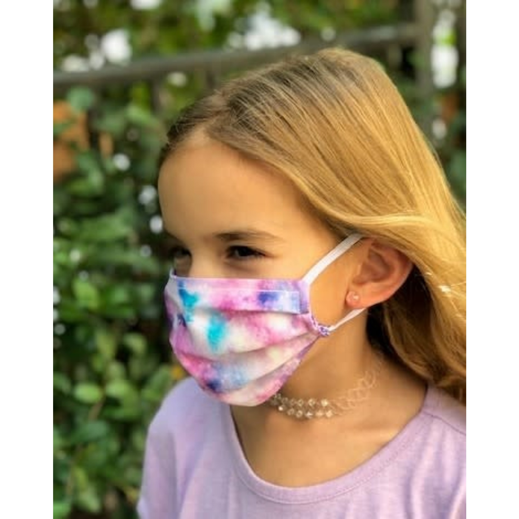 Face Cover - Reversible Galaxy / Purple nature - Kids