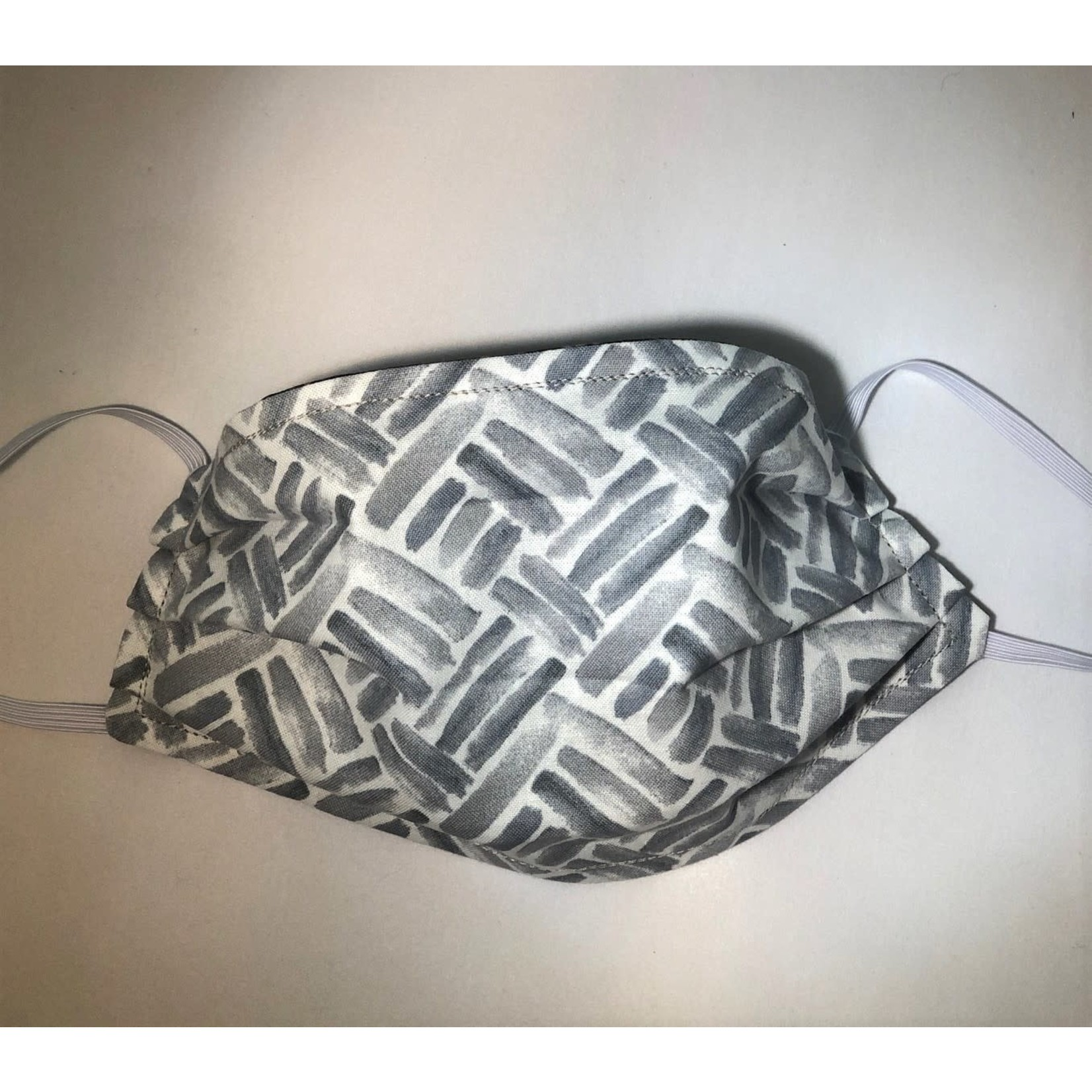 Face Cover - Reversible Grey Parquet/Black Dots - Adult Med