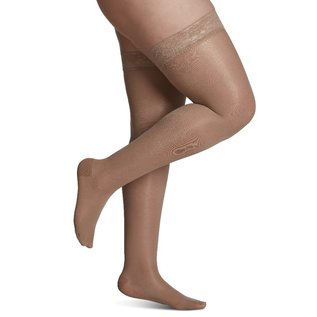 SIGVARIS Women's Sheer Fashion Thigh-High 15-20mmHg