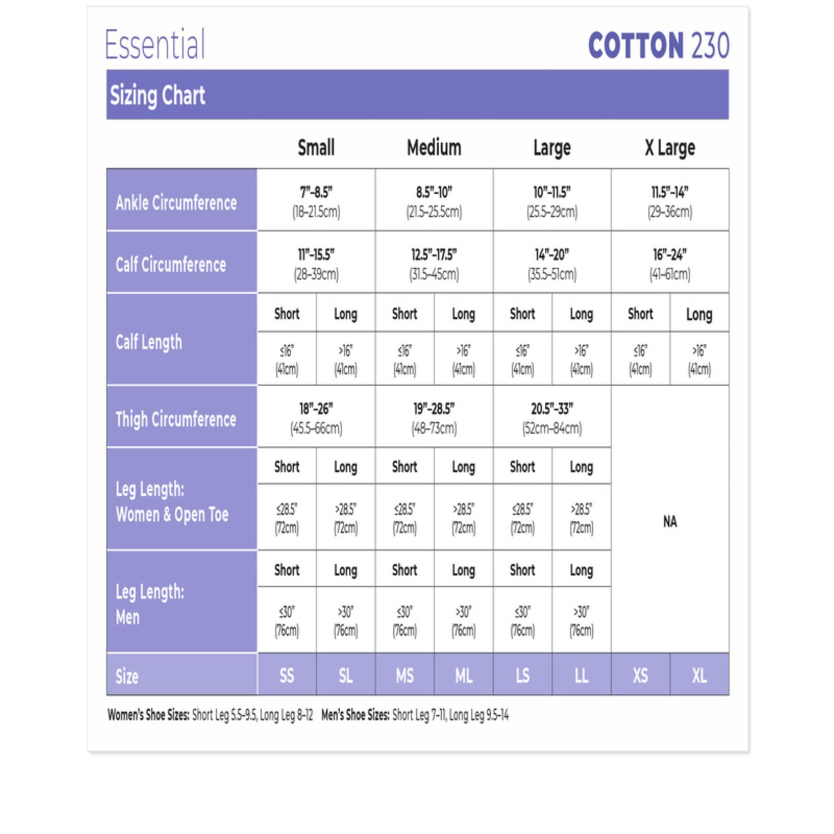 SIGVARIS Men's Essential Cotton Calf 30-40mmHg