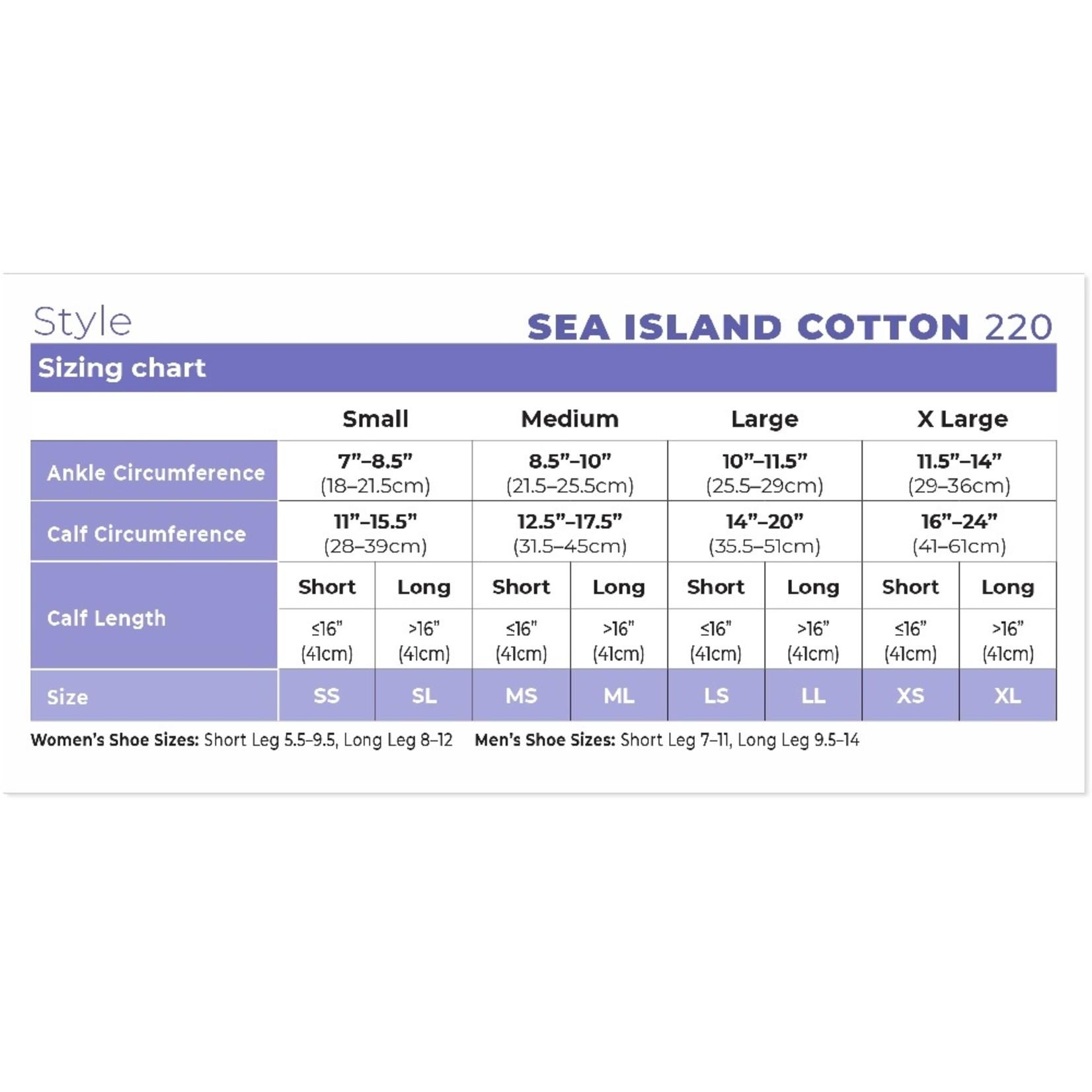 SIGVARIS Women's Style Sea Island Cotton Calf 20-30mmHg