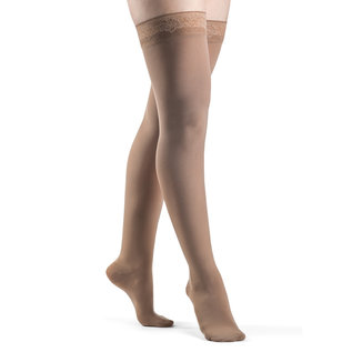 SIGVARIS Women's Style Soft Opaque Thigh-High 20-30mmHg