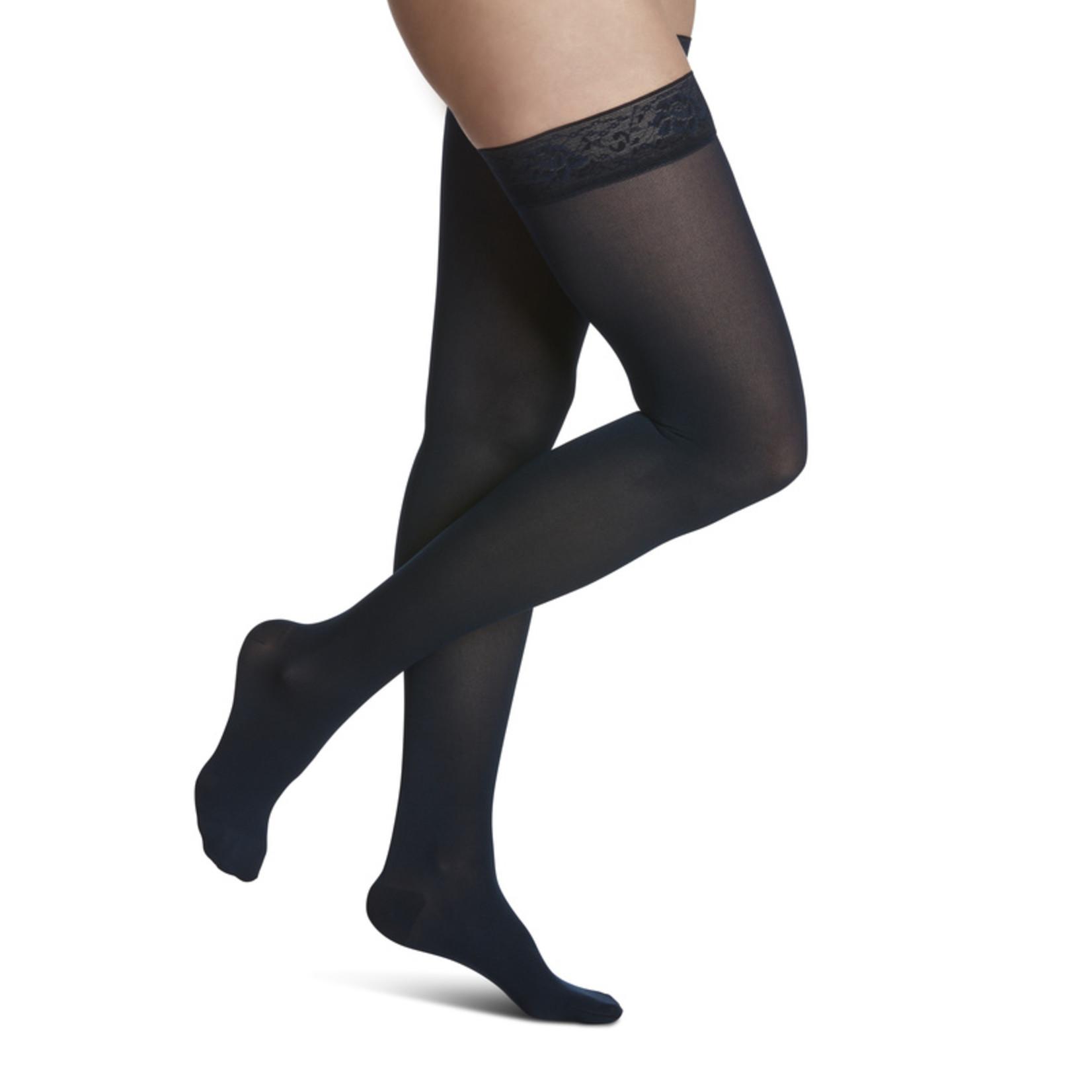 SIGVARIS Women's Style Soft Opaque Thigh-High 15-20mmHg