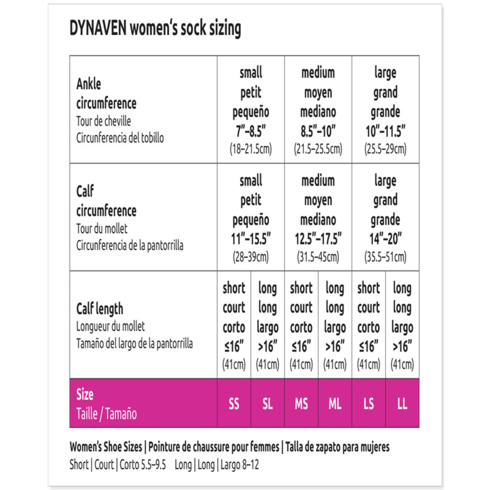 SIGVARIS Women's DYNAVEN Calf 30-40mmHg