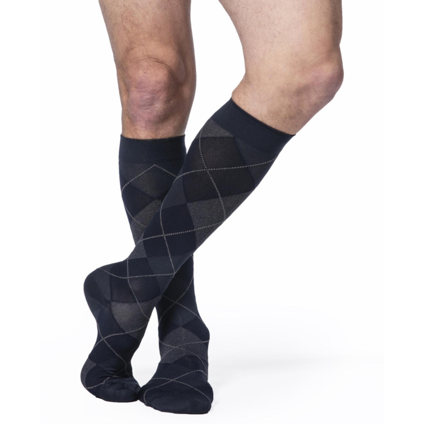 SIGVARIS Men's Style Microfiber Patterns Calf 20-30mmHg