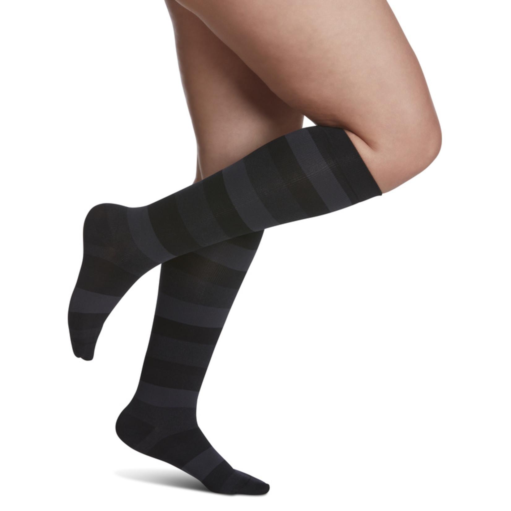 SIGVARIS Women's Style Microfiber Patterns Calf 20-30mmHg