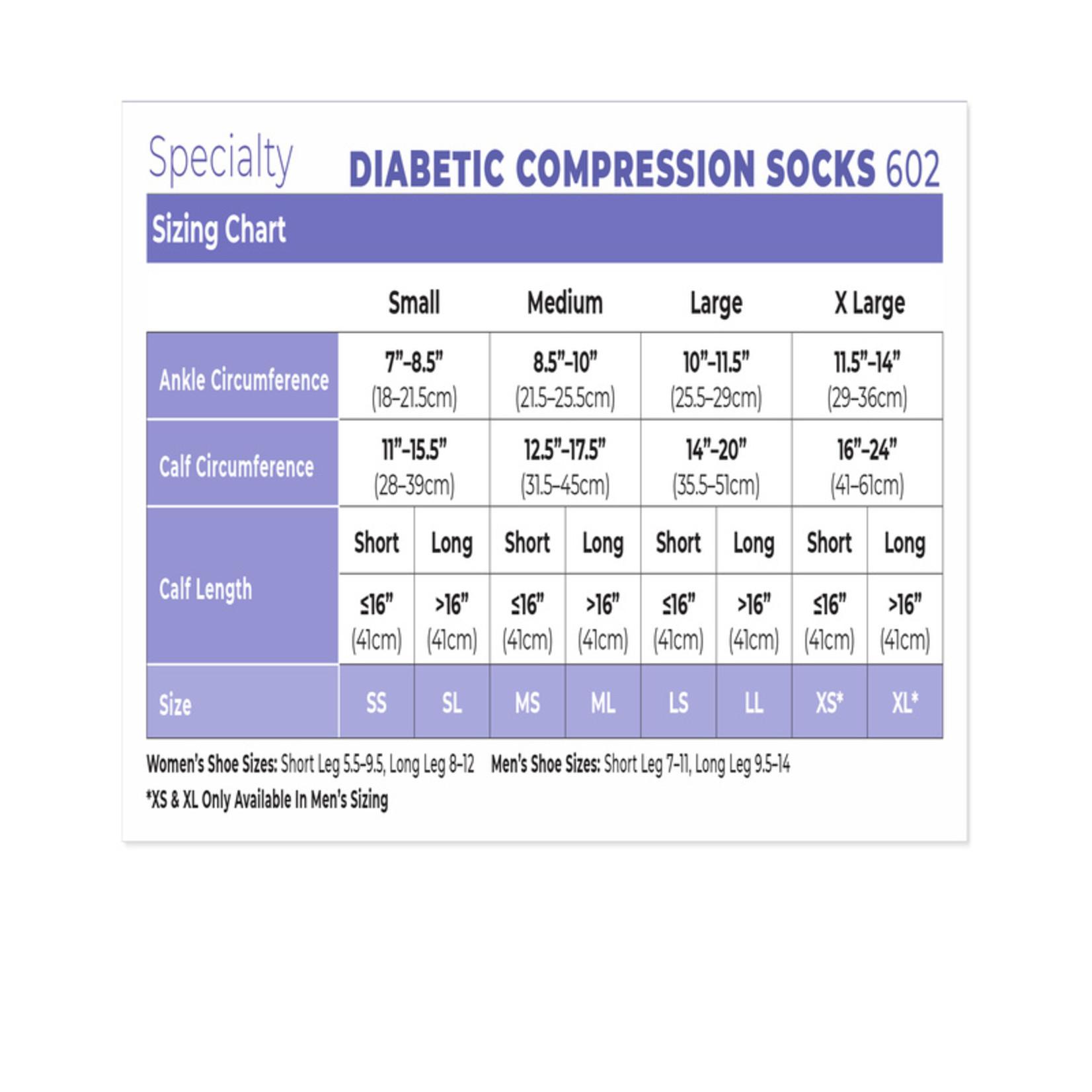 SIGVARIS Men's Diabetic Compression Socks-White 18-25mmHg
