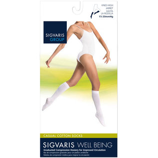 SIGVARIS Women's Casual Cotton Calf 15-20mmHg