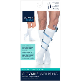 SIGVARIS Women's Eversoft Diabetic Sock Calf 8-15mmHg